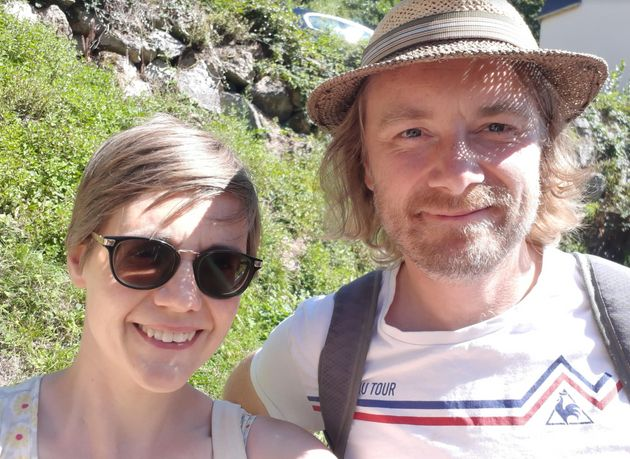 Lydia Guthrie with her husband