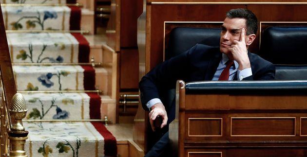 El presidente, Pedro Sánchez, en el Congreso de los