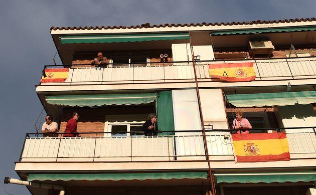 Vecinos de Madrid en sus