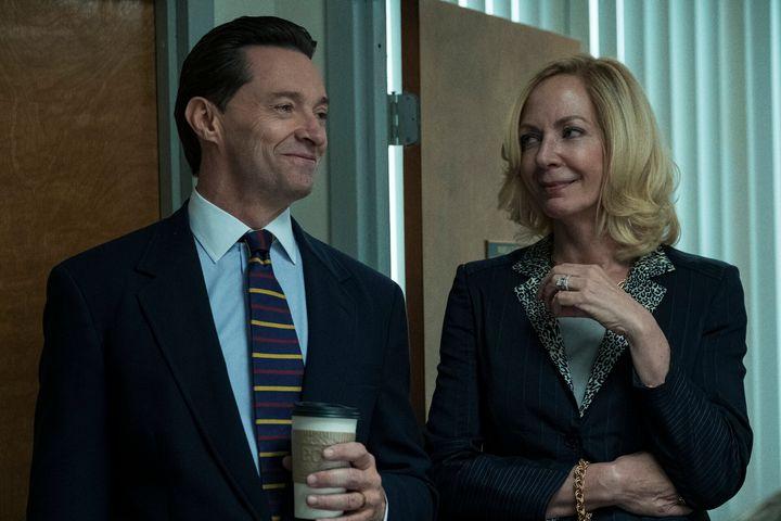 "Hugh Jackman and Allison Janney in ""Bad Education."""