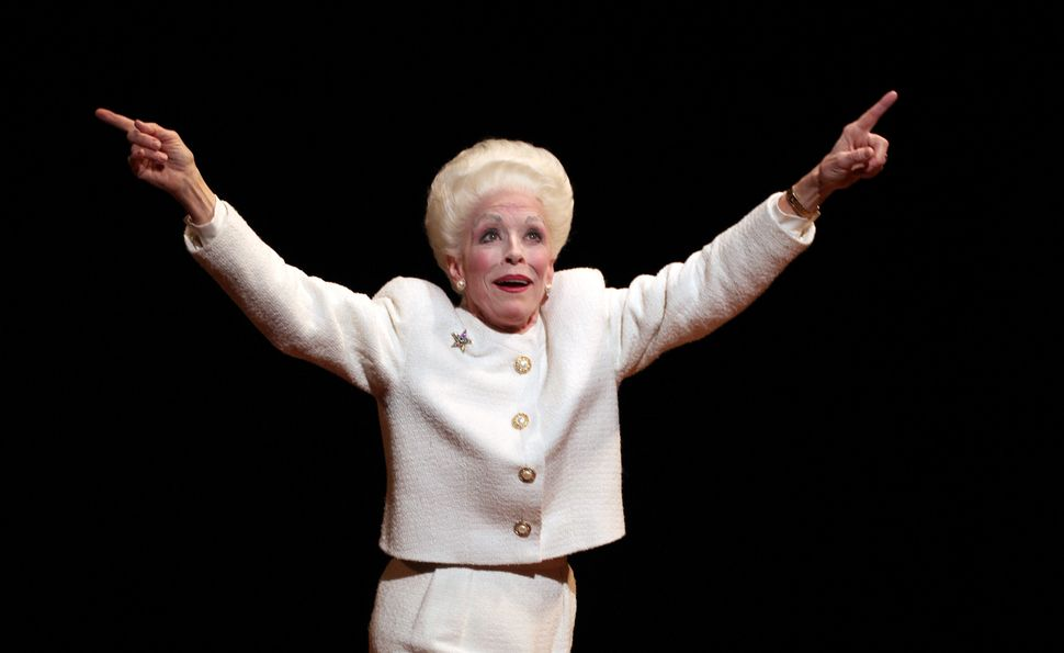 "Holland Taylor during the opening-night curtain call for ""Ann"" at the Vivian Beaumont Theater in New York."