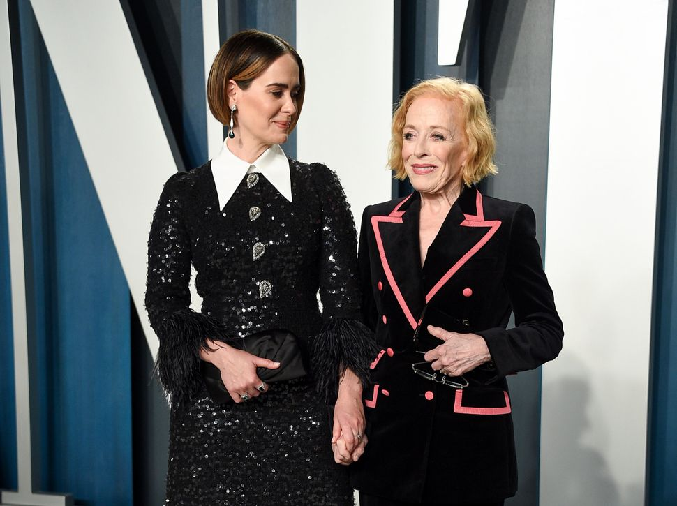 Sarah Paulson and Holland Taylor at the Vanity Fair Oscar party on Feb. 9, 2020.