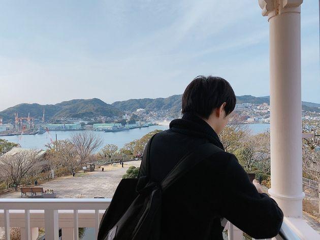 新型コロナウイルス感染が広がる前、パートナーと長崎に旅行した時の写真。