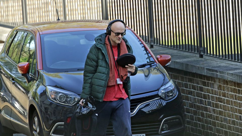 Dominic Cummings arriving at Downing