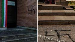 Svastiche oltraggiano il 25 aprile a Cavriago e Mele, incendiata lapide ad