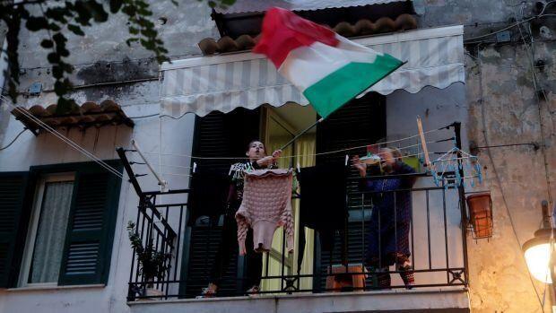 Balcón italiano entonado el