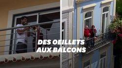 Confinés, les Portugais célèbrent la Révolution des Oeillets en chantant aux
