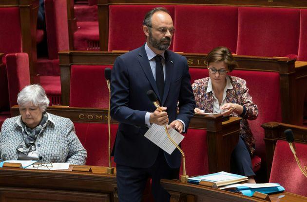 Édouard Philippe à l'Assemblée nationale le 21 avril