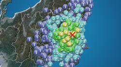 関東地方で震度4の地震 埼玉県・茨城県・群馬県・千葉県・栃木県