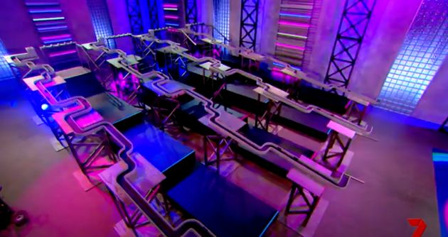 A puzzle room perhaps inside the Big Brother Australia