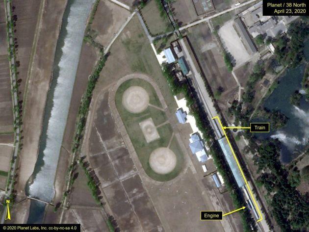 Cette photographie satellite du train personnel de Kim Jong-un est l'un des rares indices quant à l'état...