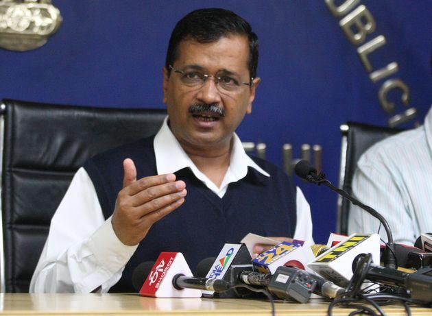 Chief Minister of Delhi, Arvind Kejriwal addresses a press conference regarding Coronavirus in New