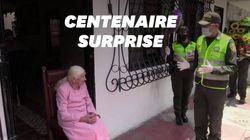 Cette grand-mère colombienne confinée a eu droit à une surprise de taille pour ses 100