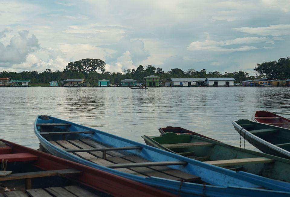 Vista da cidade de Carauari (AM), onde indígenas temem a propagação do novo