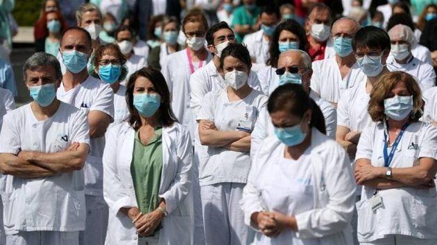 Personal sanitario durante la crisis del