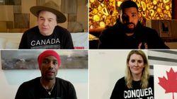 Des vedettes canadiennes livrent un message d'espoir lors d'un concert-bénéfice