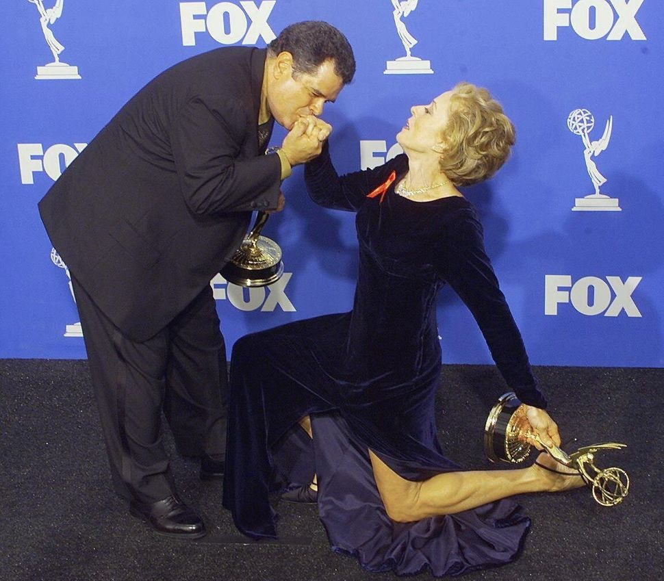 """The Practice"" co-stars Michael Badalucco and Holland Taylor at the Emmys on Sept. 12, 1999."