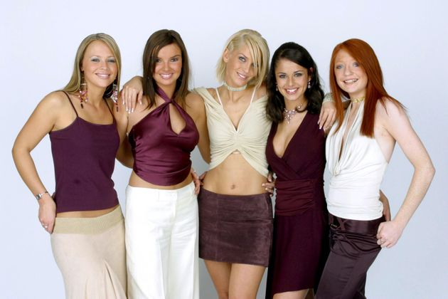Girls Aloud after they were formed on Popstars: The Rivals in