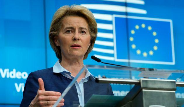 La presidenta de la Comisión Europea, Ursula Von Der
