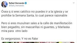 Lo que Rafael Hernando ha publicado es un bulo aunque él diga que no lo
