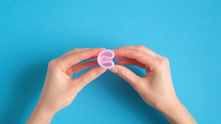 "Learning how to put in a menstrual cup is challenging. Familiarize yourself with the&nbsp;<a href=""https://www.menstrualcupsaustraliaonline.com.au/menstrual-cup-folds/"" target=""_blank"" rel=""noopener noreferrer"">different ways of folding a menstrual cup for insertion</a>. (The author is a fan of the &ldquo;punchdown&rdquo; or &ldquo;shell&rdquo; fold.)"