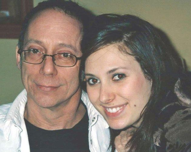 Julie Taillon et son parrain Daniel