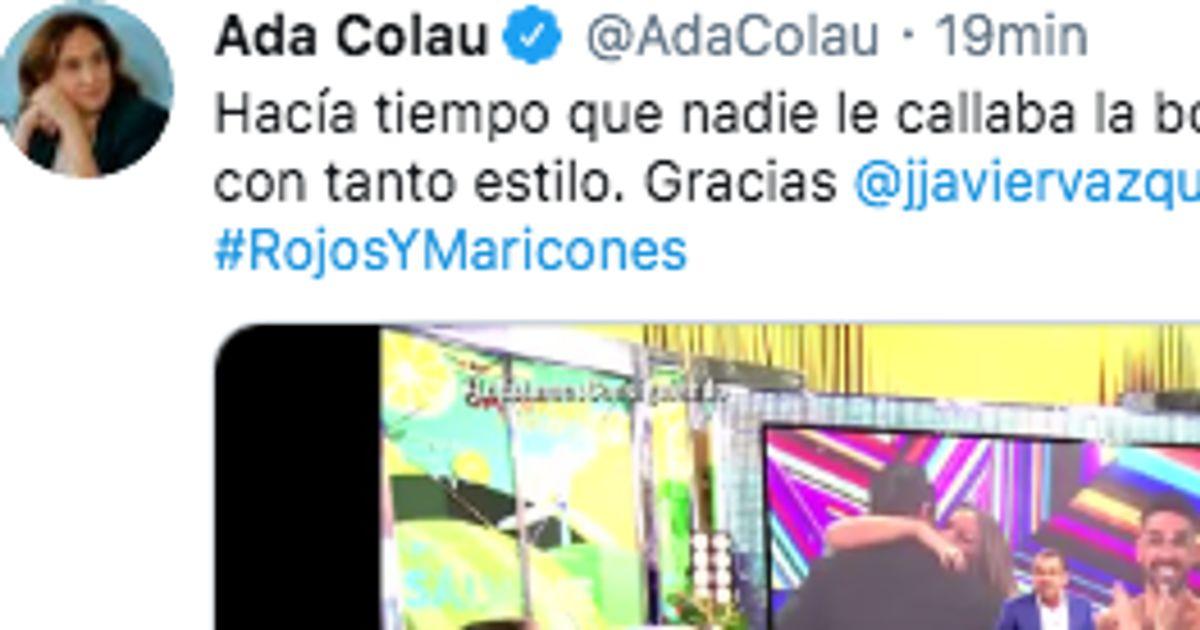 Ada Colau alaba a Jorge Javier Vázquez por lo que ha hecho en 'Sálvame'