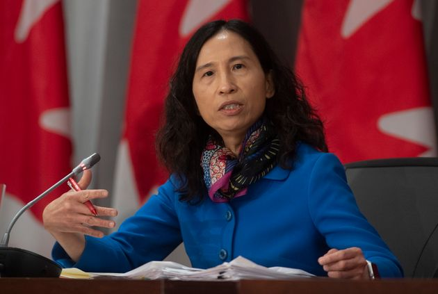 Chief Public Health Officer Theresa Tam responds to a question during a news conference in Ottawa on...