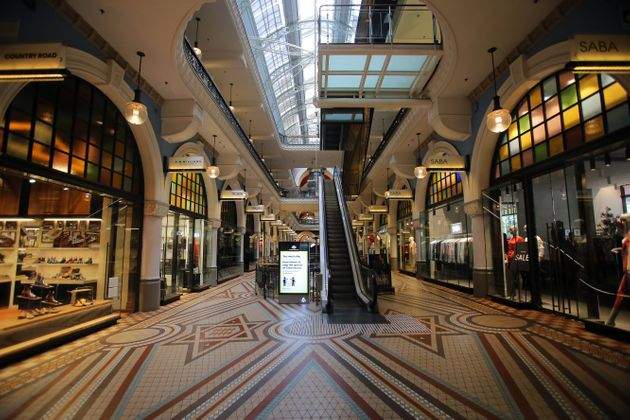 The Queen Victoria Building shopping centre is seen empty in Sydney, Australia, on March 28, 2020. (Photo...