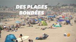 Malgré le coronavirus, des plages de Californie bondées avec la hausse des