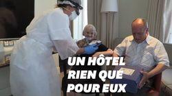 Ces Espagnols âgés logés à l'hôtel pour éviter de contracter le