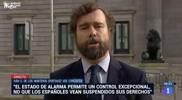 Iván Espinosa de los Monteros, el 28 de abril de 2020 en 'Los desayunos' de