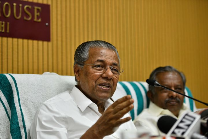 Pinarayi Vijayan, Chief Minister of Kerala, at Kerala House in New Delhi.