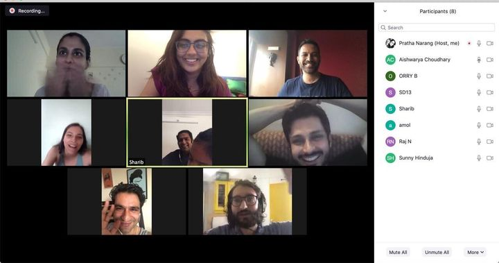 A meeting of 'A Viral Wedding' team on Zoom