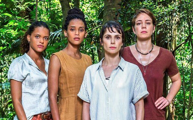 As Aruanas: Clara (Tainá Duarte), Verônica (Taís Araújo), Natalie (Débora Falabella) e Luiza (Leandra