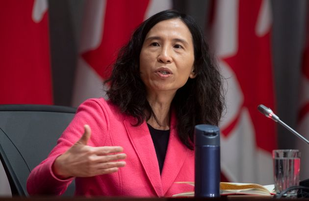 Chief Public Health Officer Theresa Tam responds to a question during a news conference on April 24,
