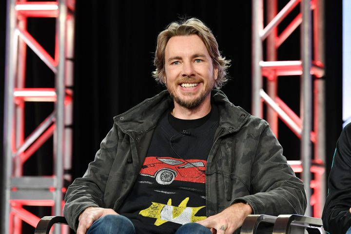 "Dax Shepard of ""Top Gear America"" speaks during the 2020 Winter TCA Press Tour on Jan. 16, 2020 in Pasadena, California."