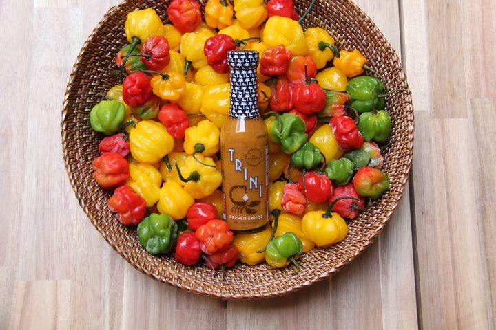 Trini Pepper Sauce is made about 75 gallons at a time at a manufacturing facility in North Carolina. Mustafa Mannan, the