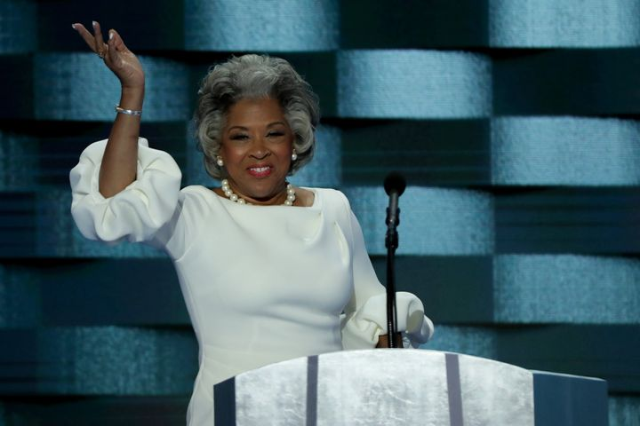 Rep. Joyce Beatty (D-Ohio) speaks at the 2016 Democratic National Convention. She has a relatively liberal record, but does n
