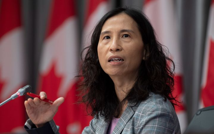 Chief Public Health Officer Theresa Tam speaks during a technical briefing on April 28, 2020 in Ottawa.