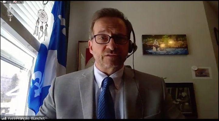 Bloc Quebecois Leader Yves-François Blanchet.