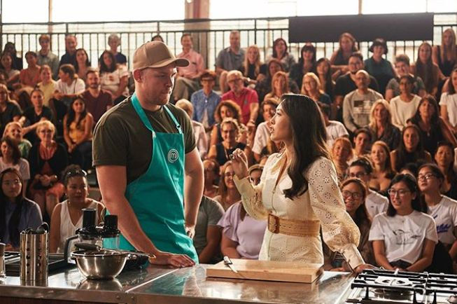 MasterChef Australia: Back To Win contestant Harry Foster and judge Melissa Leong