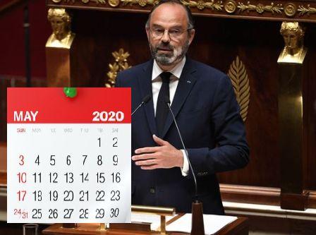 Le calendrier de déconfinement prévu (sous conditions) par Édouard