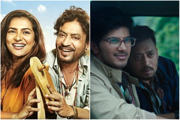 Parvathy and Dulquer with Irrfan