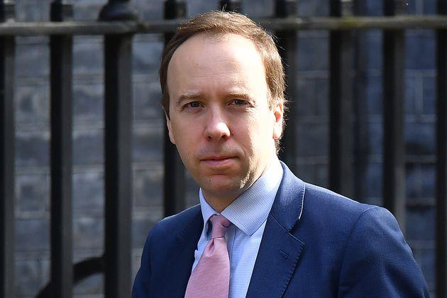 Health Secretary Matt Hancock arrives in Downing