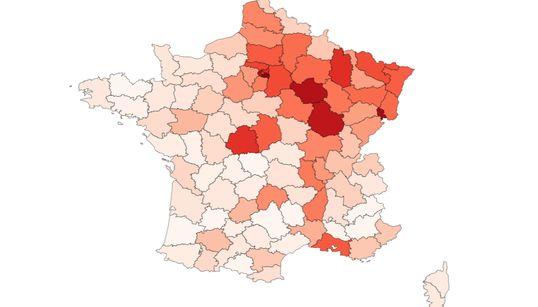 Trois cartes pour connaître les départements où le coronavirus circule le
