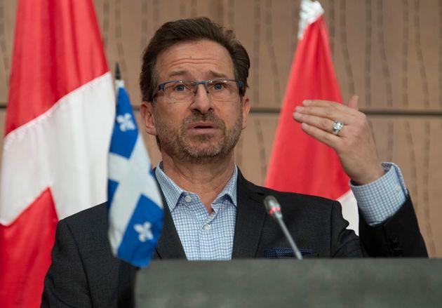 Yves-François Blanchet, chef du Bloc