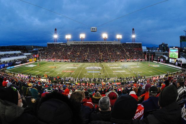 A view from inside McMahon Stadium in Calgary is seen here during the 107th Grey Cup on Nov. 24,