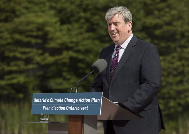 Glen Murray speaks during a climate change policy announcement at Evergreen Brickworks in Toronto on...