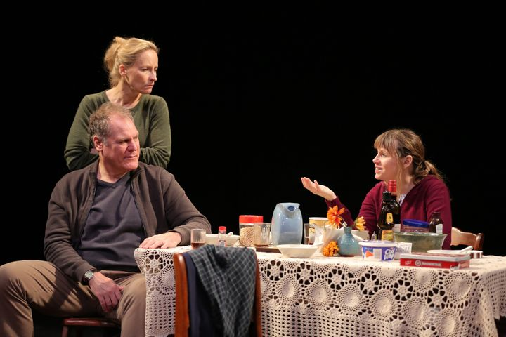 """Jay O. Sanders, Laila Robins, and Sally Murphy in the 2012 production of """"Sorry,"""" written and directed by Richard Nelson, at"""